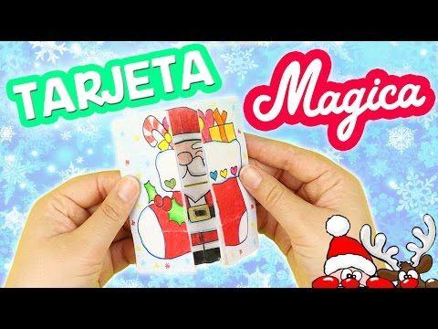 HAZ 4 TARJETAS MÁGICAS en 1!!! Manualidades para Navidad!!! -Mery - YouTube
