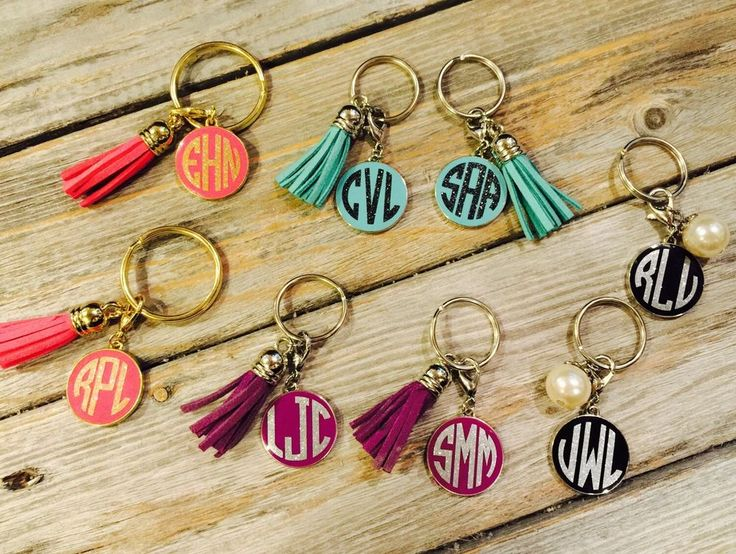 Monogram Keychain With Tassel/ Personalized Keychain/ Monogram