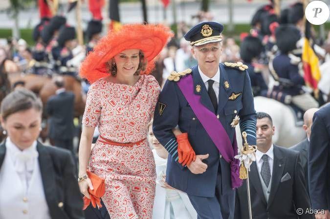 mathilde de belgique +21 JUILLET | Le roi Philippe et la reine Mathilde de Belgique, audacieuse en orange ...