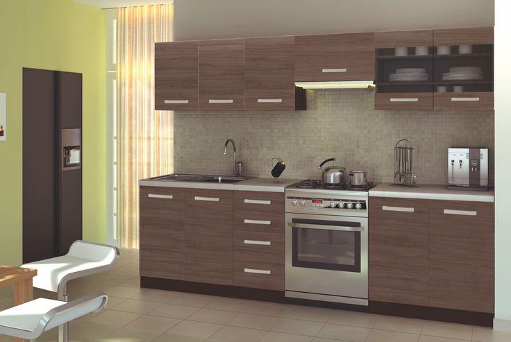 Ama - 260 cm-es blokk konyha  Ára: 95.900 Ft  Finom, visszafogott, de divatos, venge színű blokk konyha, amely minden konyhában megállja a helyét. www.knapp.hu