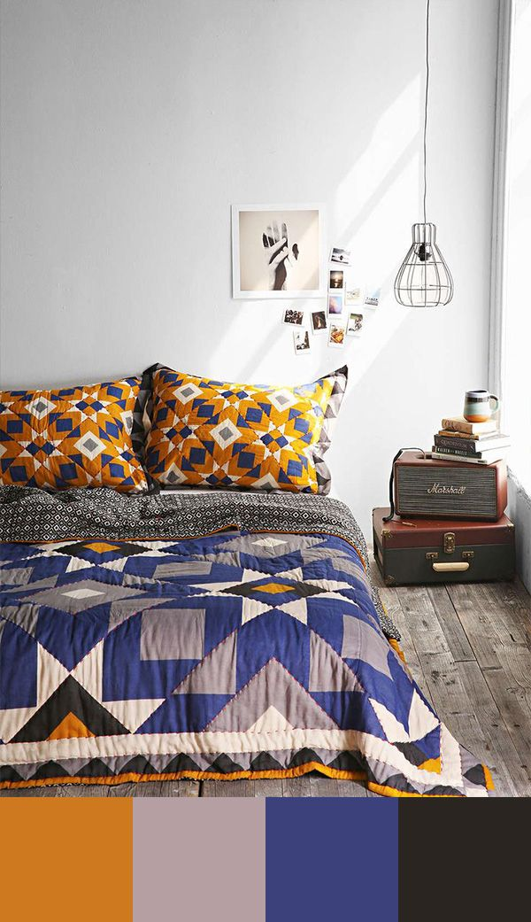 Color Schemes: Blue and Yellow. These two are complementary colors that should be combined to create a more lively interior. #housetrends