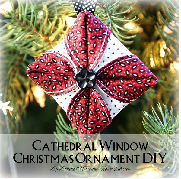 Penny Rose Fabrics Blog: Cathedral Window Christmas Ornament