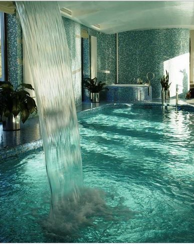 million dollar bathroom waterfall
