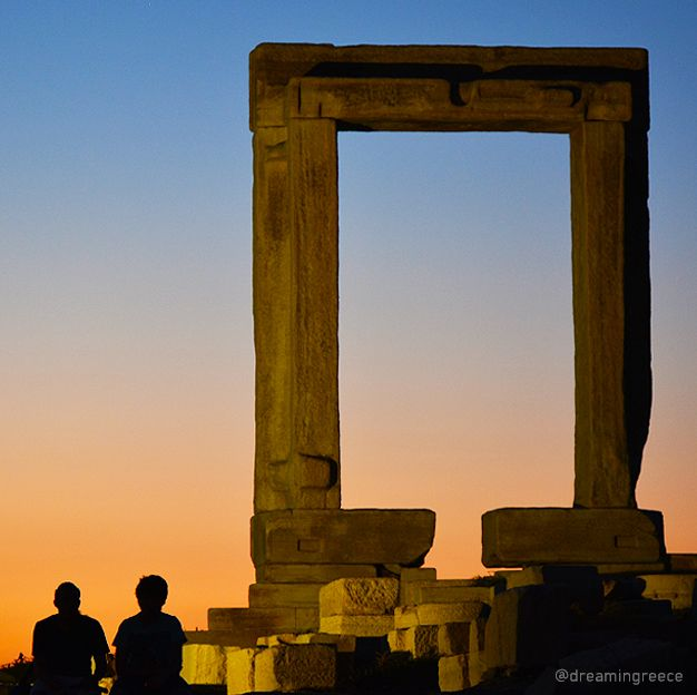 Portara, Naxos island, Greece  Photo by D. Evangelopoulos for @dreamingreece - Find the ideal destination for your holidays and explore the beauties of Greece.  Plan and book your holidays in Greece through www.dreamingreece.com  #greece #naxos #greekislands #dreamingreece