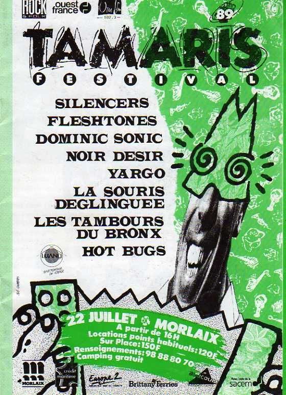 Festival Tamaris à MORLAIX en 1989