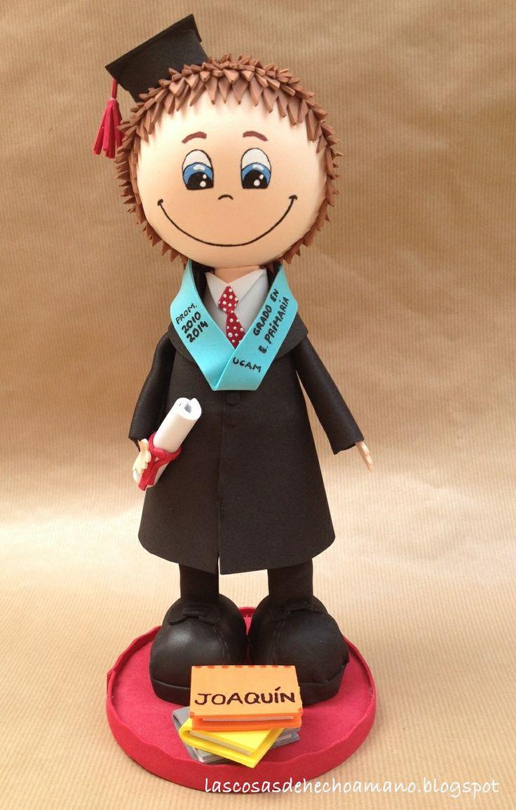 Fofucho de Graduación. Totalmente personalizado  http://lascosasdehechoamano.blogspot.com.es/