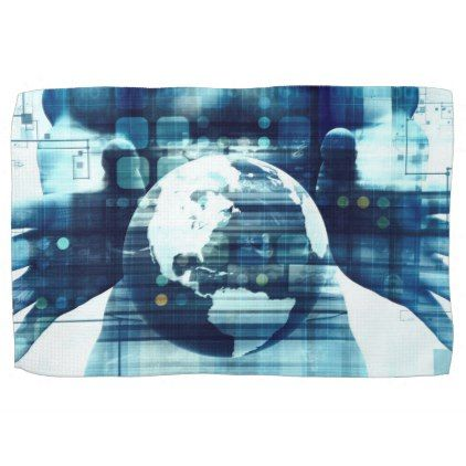 Digital World and Technology Lifestyle Industry Kitchen Towel - home decor design art diy cyo custom