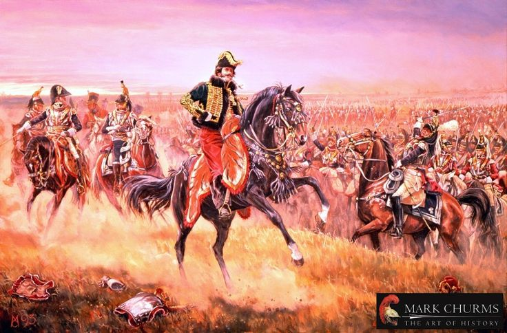 LA SALLE AT THE BATTLE OF WAGRAM 1809, by Mark Churms.