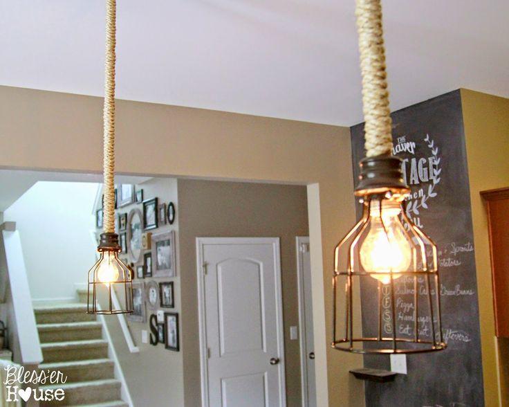 Diy industrial pendant light for under 10