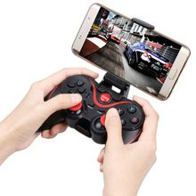 Smart Phone Game Wireless Joystick Controller Bluetooth Android Gamepad Gaming Remote Control for phone PC TV Box with holder