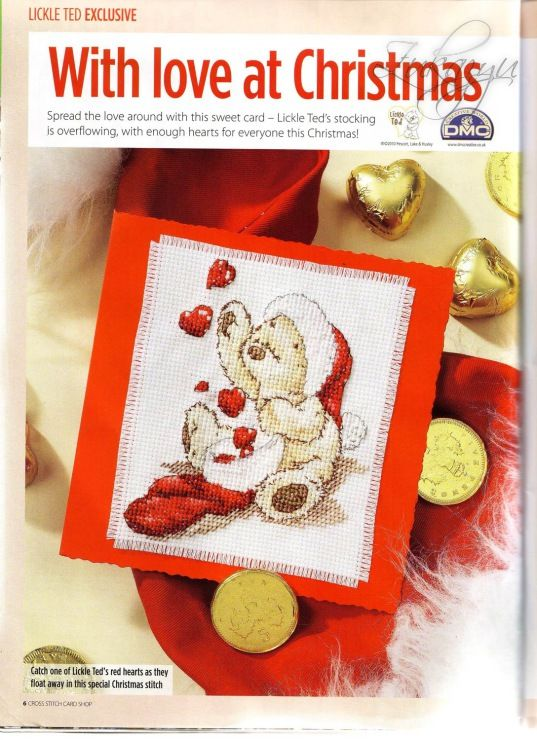 Lickle Ted With Love at Christmas Cross Stitch Card Shop Issue 75 Hardcopy