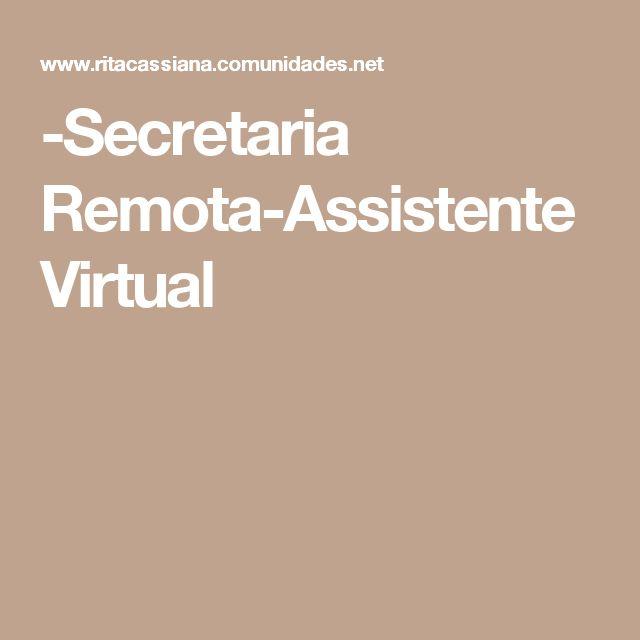 -Secretaria Remota-Assistente Virtual