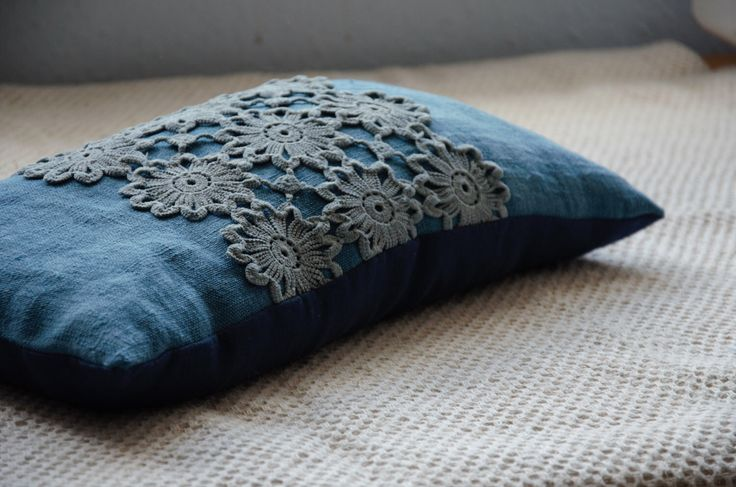 Lace pillow boho pillows blue cushion hand dyed fabric buckwheat pillow pretty pillows bohemian decor sustainable natural decor textured by EthicalLifeStore on Etsy https://www.etsy.com/listing/202794156/lace-pillow-boho-pillows-blue-cushion