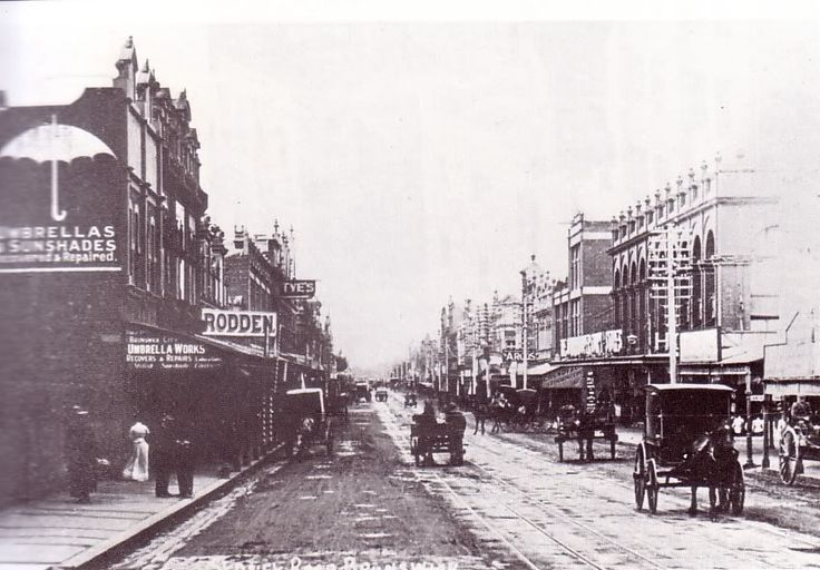 Looking up Sydney Road Brunswick, undated, clearly 19thC.
