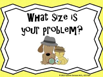 What Size is Your Problem? Social activity for determining problem size and appropriate responses.