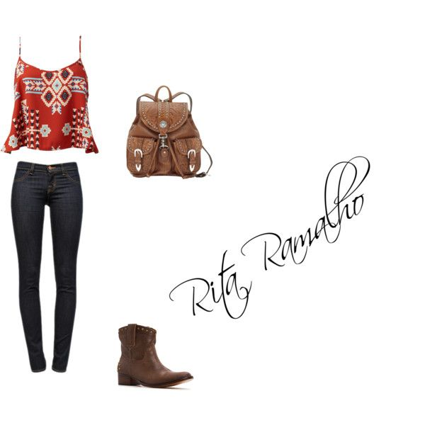Red by ritinha-ramalho on Polyvore featuring Forever 21, J Brand and MANGO