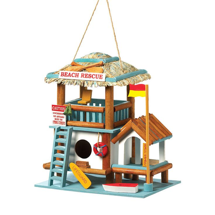 Lifeguard Station Birdhouse. ECA LISTING BY Global-Living Online Retail, Lower Sackville, Nova Scotia, Canada