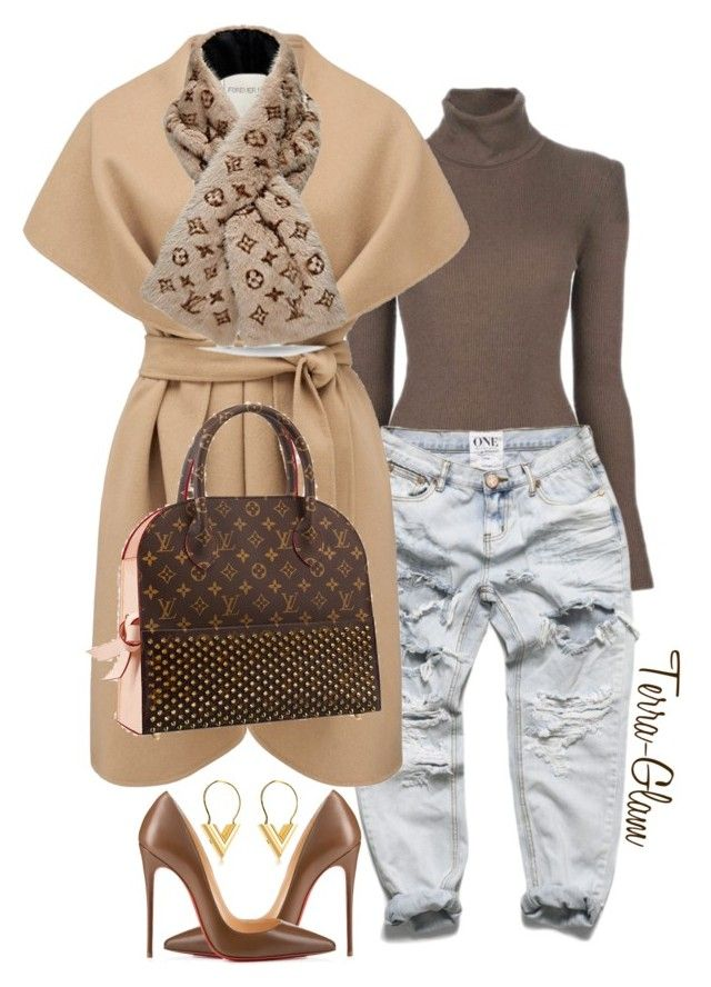 Louis V Diva by terra-glam on Polyvore featuring polyvore fashion style MICHAEL Michael Kors Forever New Christian Louboutin women's clothing women's fashion women female woman misses juniors