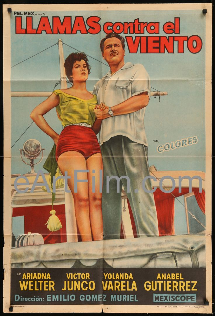 Flames Against The Wind-Emilio Gomez Muriel-Romance-Drama-Great Artwork-1956