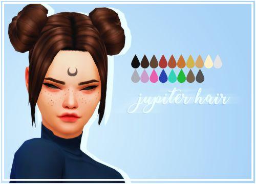 Sims 4 Anime Characters : Crazycupcake jupiter hair sims anime character