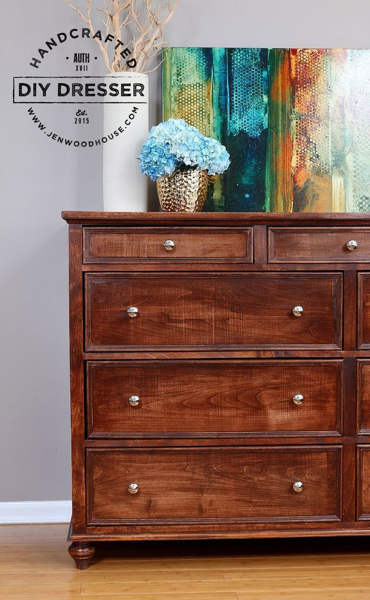 How to build a DIY 9-drawer dresser. Free plans by Jen Woodhouse
