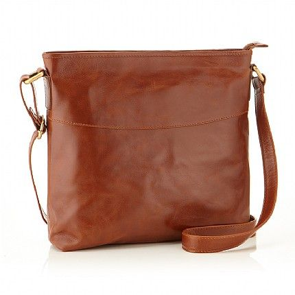 Buy Tan Leather Across Body Bag from Pia Jewellery