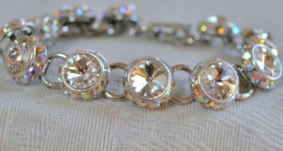 Swarovski Crystal Bracelet Swarovski Bridal by CreativityAtPlay, $40.00
