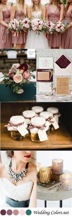 {Shades of Mauve, Blush & Turquoise} Wedding Color Inspiration