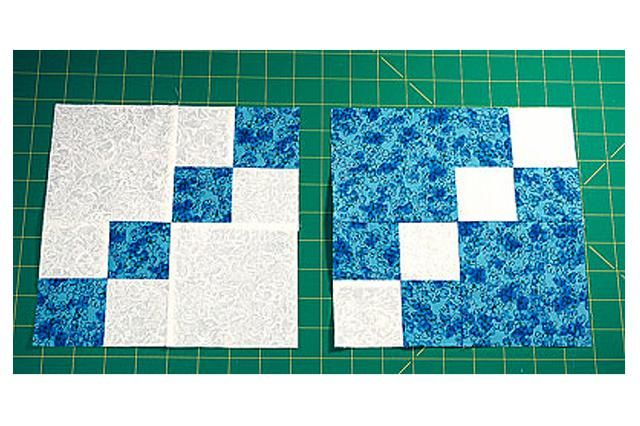 Make Dual Double Four Patch Blocks and Experiment with Lots of Layouts: Make Double Four Patch Quilt Blocks in Two Colorways