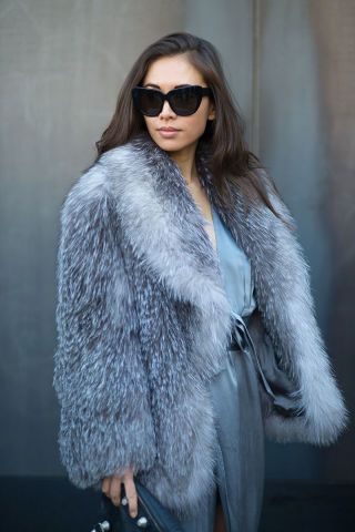 See the best NYFW street style looks here: Rumi Neely