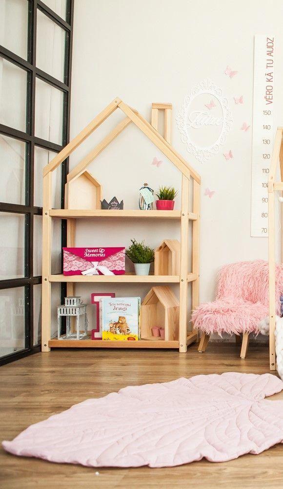 House Shaped Bookshelf Bookcase Kids Book Organizer Children S