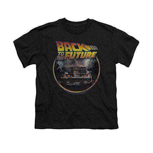 Back To The Future Sci-Fi Movie Delorean Back Big Boys T-Shirt Tee @ niftywarehouse.com