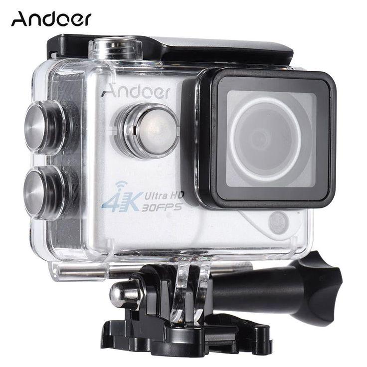 Andoer 4K 30FPS 1080P 60FPS Full HD Wifi 170 Degree Outdoor Action Camera