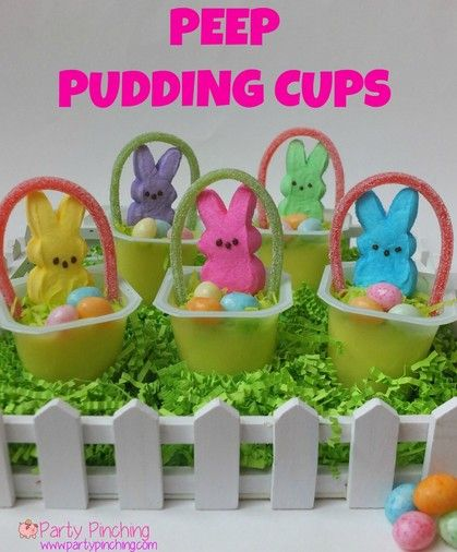 Easter Peeps, easy Easter dessert ideas, Easter party ideas for kids, Easter pud…   – Easter Recipes