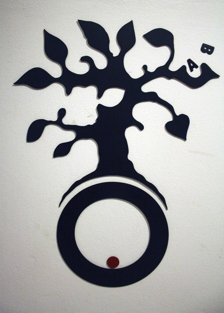 """""""the tree"""" (part.) - wall decoration - wood cut"""