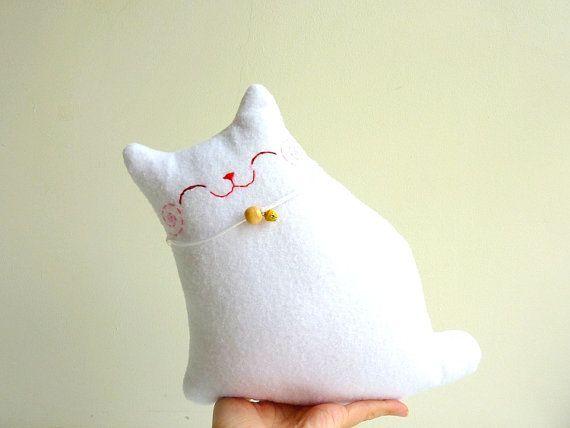 Cat Plush Stuffed Cat Plush Animal  Little by dancingintherains, $20.00