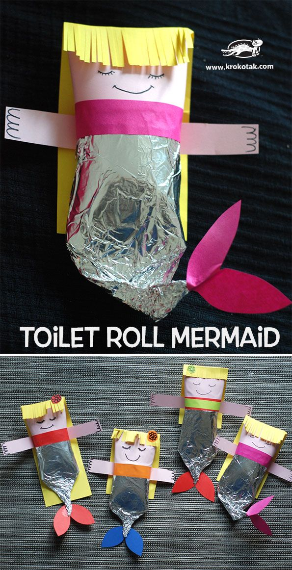 Toilet Roll Mermaid