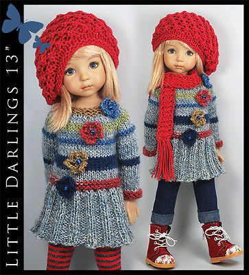OOAK-FALL-Outfit-for-Little-Darlings-Effner-13-by-Maggie-Kate-Create. Ends 9/24/14.. SOLD for $158.50