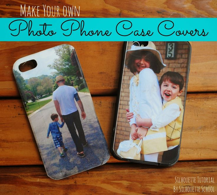 Tutorial (engl.) - DIY Photo Phone Case Cover // www.silhouetteschoolblog.com