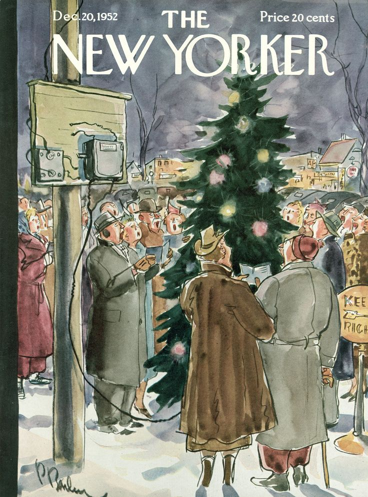 The New Yorker - Saturday, December 20, 1952 - Issue # 1453 - Vol. 28 - N° 44 - Cover by : Perry Barlow