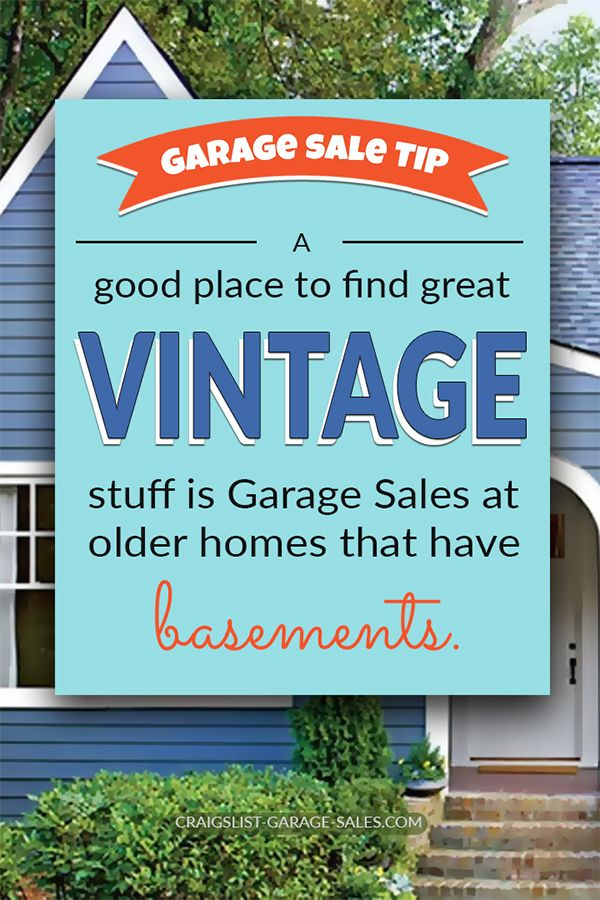 Pin On Garage Sale Tips Okc Craigslist Garage Sales
