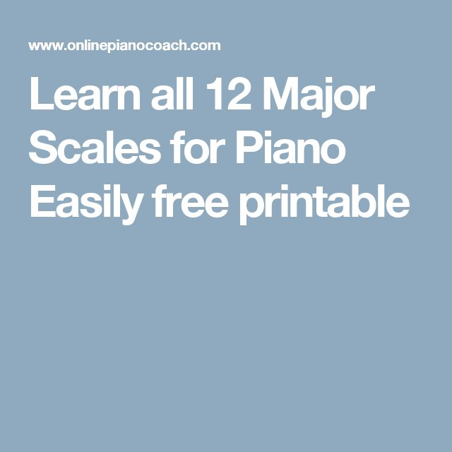 Learn all 12 Major Scales for Piano Easily free printable