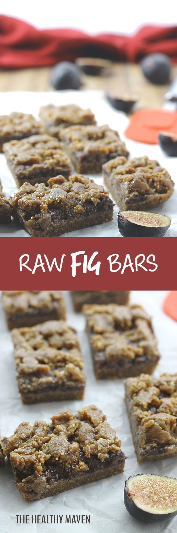 Raw Fig Bars - a delicious and healthy snack recipe using fresh figs for the filling and ground flax  and nuts for the raw crust.