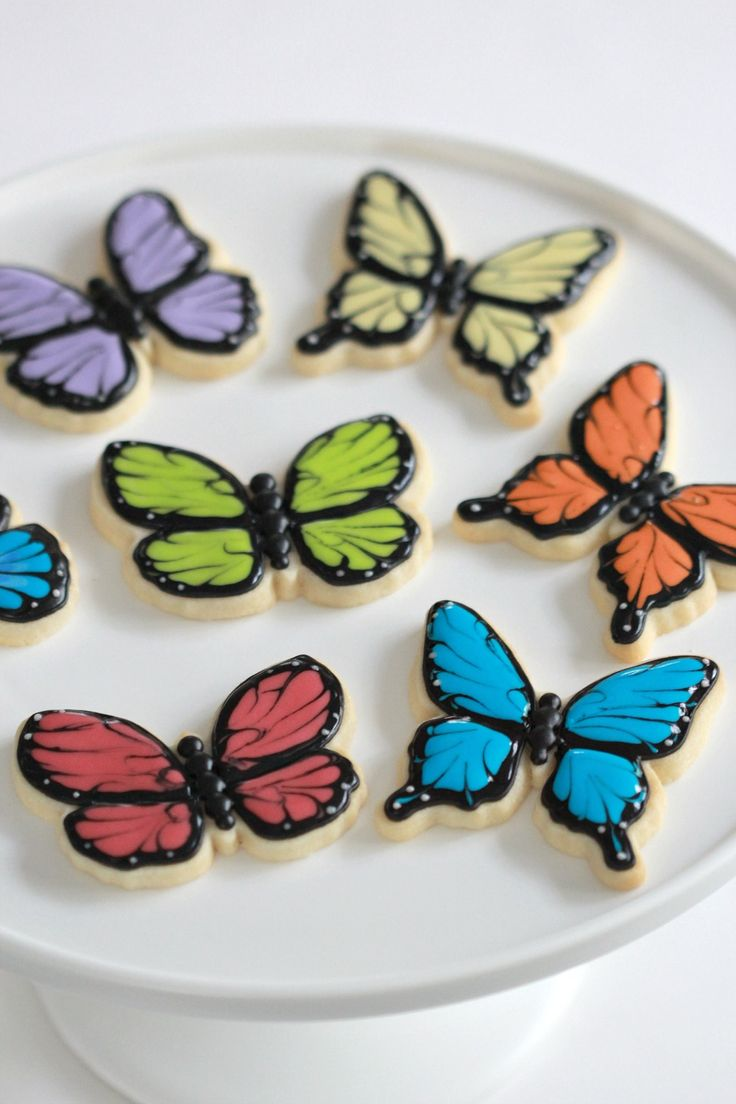 25 best ideas about butterfly cookies on pinterest - How to decorate butterfly ...