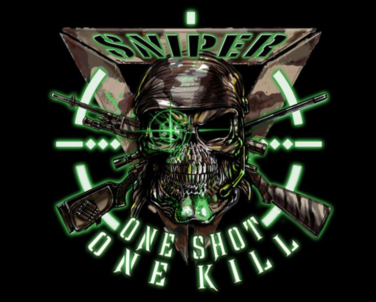 """ARMY SNIPER ONE SHOT KILL MILITARY 4"""" AUTO CAR STICKER DECAL EMBLEM MADE IN USA"""