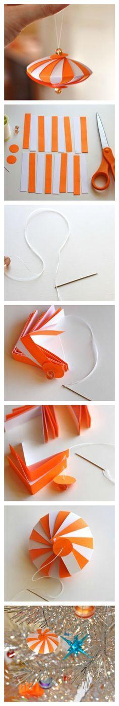 DIY Project: Striped Paper Ornament