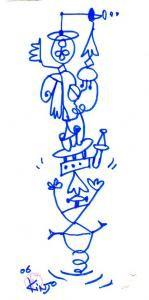 気まぐれ天使の選択 / ミルミル絵文字を描いたあと、そこに気まぐれ天使を発見!