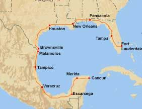 Crossing the border at Brownsville Texas to Matamoros Mexico