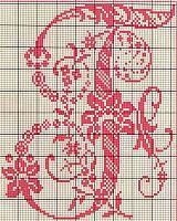 Ancient old cross stitch alphabet (5)