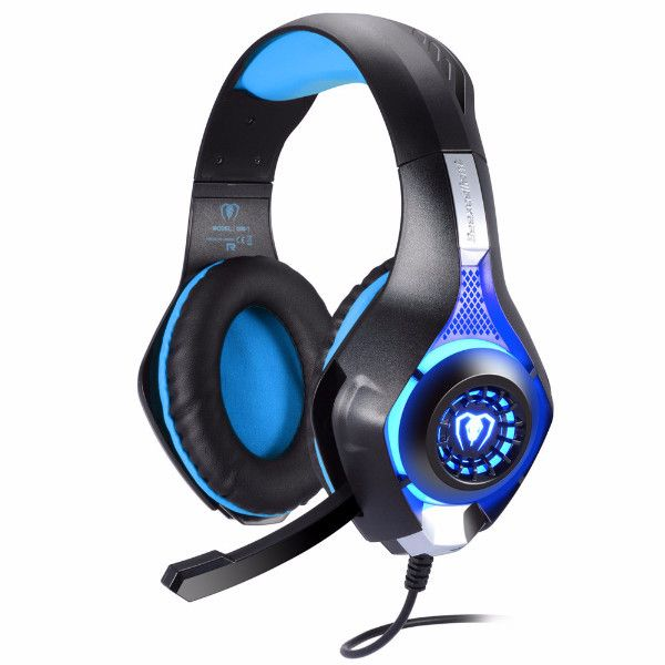 PS4 Game Headset 3.5mm LED Light Gaming Headphone with Mic